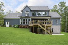 House Plan Design - Craftsman Exterior - Rear Elevation Plan #929-60