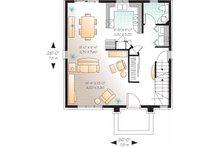 European Floor Plan - Main Floor Plan Plan #23-2449