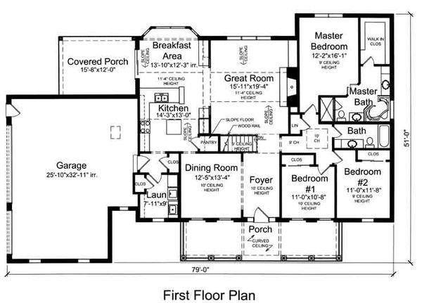 Country Floor Plan - Main Floor Plan Plan #46-490