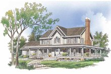 Dream House Plan - Country Exterior - Front Elevation Plan #929-482