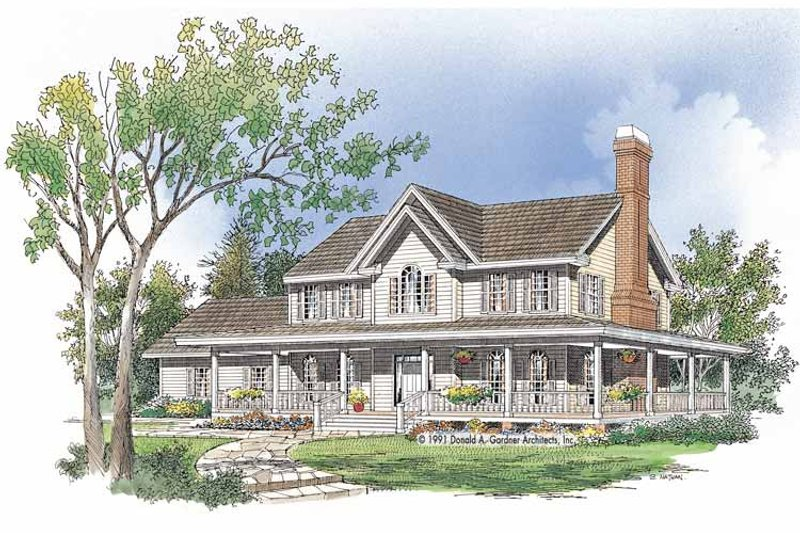 Home Plan - Country Exterior - Front Elevation Plan #929-482