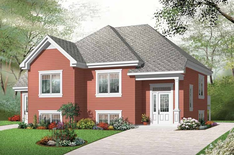 Dream House Plan - Traditional Exterior - Front Elevation Plan #23-2439
