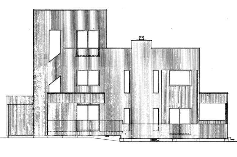 Contemporary Exterior - Other Elevation Plan #320-1018 - Houseplans.com