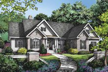 Ranch Exterior - Front Elevation Plan #929-876