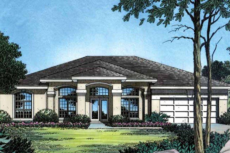 House Plan Design - Mediterranean Exterior - Front Elevation Plan #417-486