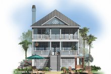Classical Exterior - Rear Elevation Plan #929-506