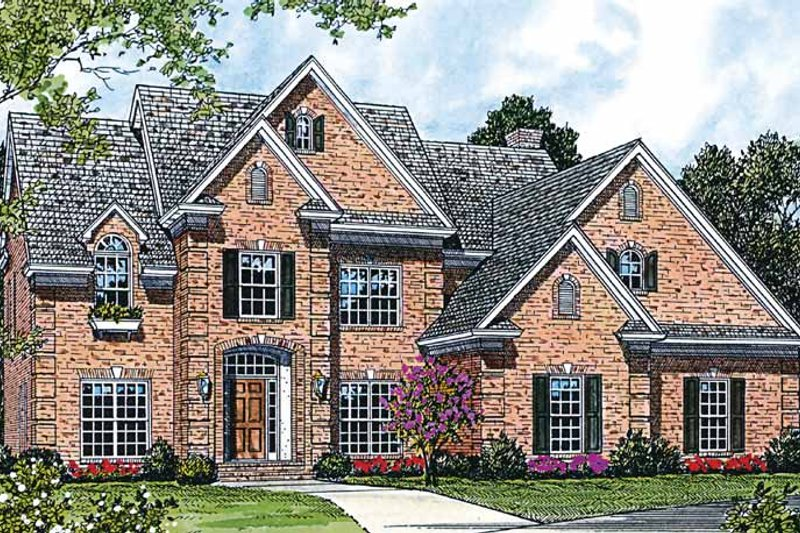 Architectural House Design - Traditional Exterior - Front Elevation Plan #453-346