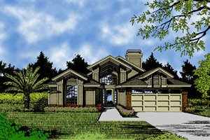 European Exterior - Front Elevation Plan #417-162