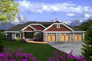 Ranch Style House Plan - 3 Beds 2 Baths 2105 Sq/Ft Plan #70-1118 Exterior - Front Elevation