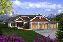 Dream House Plan - Ranch Exterior - Front Elevation Plan #70-1118