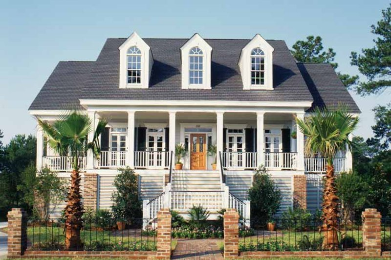 Country Exterior - Front Elevation Plan #37-249 - Houseplans.com