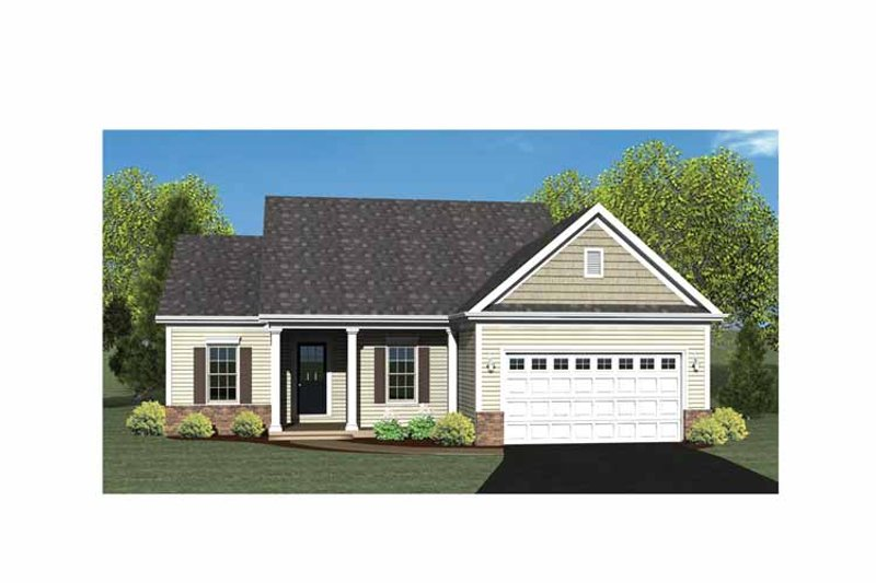 Ranch Exterior - Front Elevation Plan #1010-3 - Houseplans.com