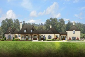 Home Plan - European Exterior - Front Elevation Plan #1058-24