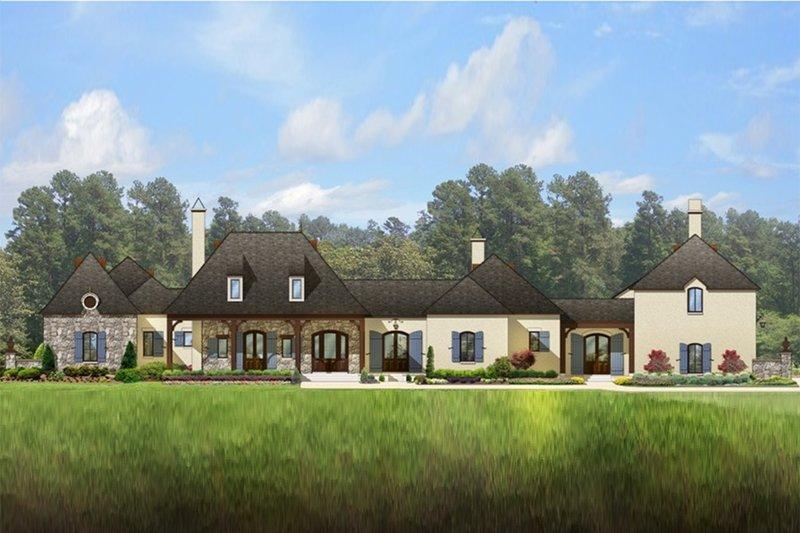 Architectural House Design - European Exterior - Front Elevation Plan #1058-24
