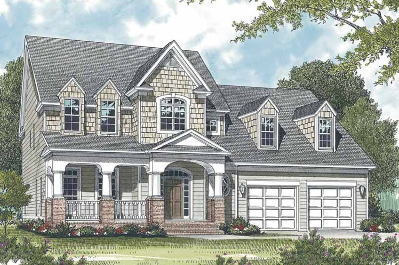 Dream House Plan - Country Exterior - Front Elevation Plan #453-530