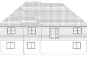 Ranch Style House Plan - 3 Beds 2 Baths 1729 Sq/Ft Plan #1060-10 Exterior - Rear Elevation