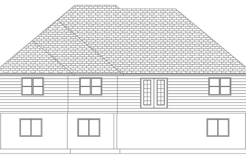 Ranch Exterior - Rear Elevation Plan #1060-10 - Houseplans.com
