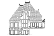 Home Plan - European Exterior - Rear Elevation Plan #119-323