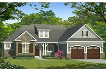 Ranch Exterior - Front Elevation Plan #1010-185