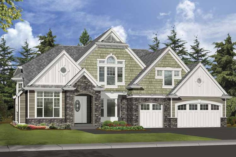 Craftsman Exterior - Front Elevation Plan #132-501 - Houseplans.com