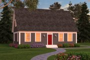 Colonial Style House Plan - 3 Beds 3 Baths 2888 Sq/Ft Plan #903-2 Exterior - Front Elevation