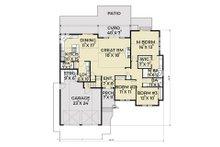 Southern Floor Plan - Main Floor Plan Plan #1070-8