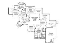 Mediterranean Floor Plan - Main Floor Plan Plan #952-196