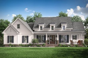 Architectural House Design - Farmhouse Exterior - Front Elevation Plan #430-196