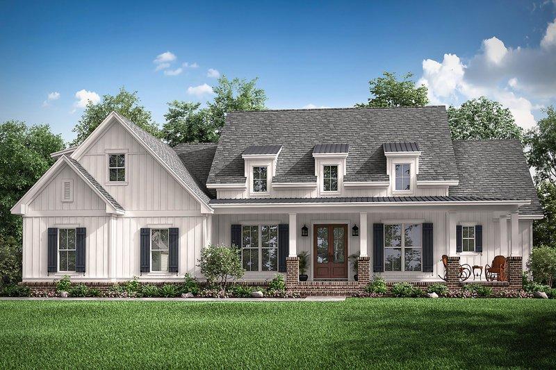 Dream House Plan - Farmhouse Exterior - Front Elevation Plan #430-196