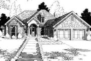 Traditional Style House Plan - 4 Beds 3 Baths 2506 Sq/Ft Plan #310-151 Exterior - Front Elevation