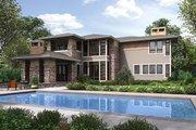 Prairie Style House Plan - 3 Beds 3.5 Baths 3664 Sq/Ft Plan #132-566 Exterior - Rear Elevation