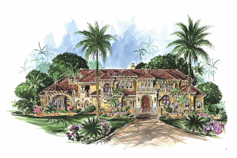 Dream House Plan - Mediterranean Exterior - Front Elevation Plan #1017-78