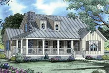 Home Plan - Colonial Exterior - Front Elevation Plan #17-2884