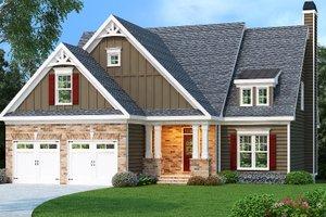 Craftsman Exterior - Front Elevation Plan #419-204