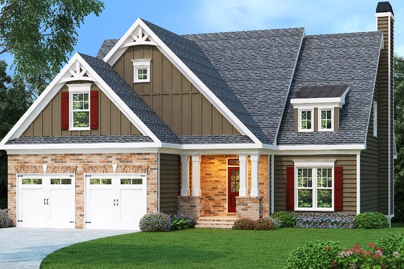 Craftsman Exterior - Front Elevation Plan #419-204 - Houseplans.com