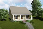 Country Style House Plan - 2 Beds 2 Baths 1122 Sq/Ft Plan #44-188 Exterior - Front Elevation