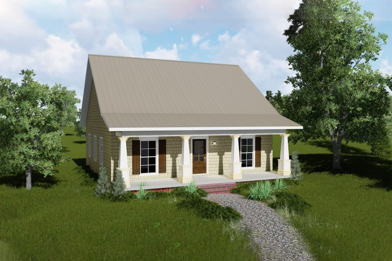 Country Exterior - Front Elevation Plan #44-188 - Houseplans.com