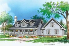 Architectural House Design - Country Exterior - Front Elevation Plan #929-194