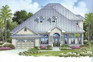 Dream House Plan - Mediterranean Exterior - Front Elevation Plan #1017-100