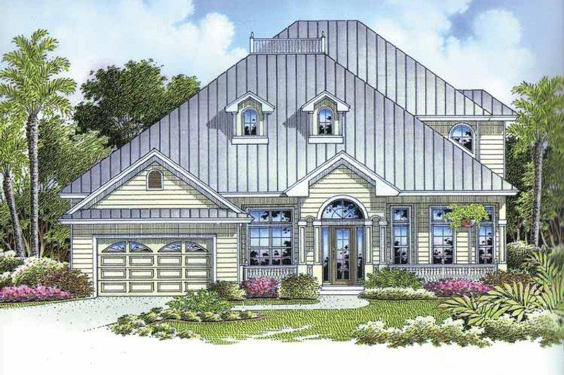 Dream House Plan - Mediterranean Exterior - Front Elevation Plan #1017-100