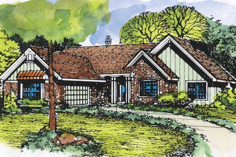Ranch Exterior - Front Elevation Plan #320-950 - Houseplans.com