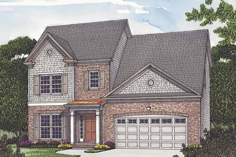 Traditional Exterior - Front Elevation Plan #453-502 - Houseplans.com