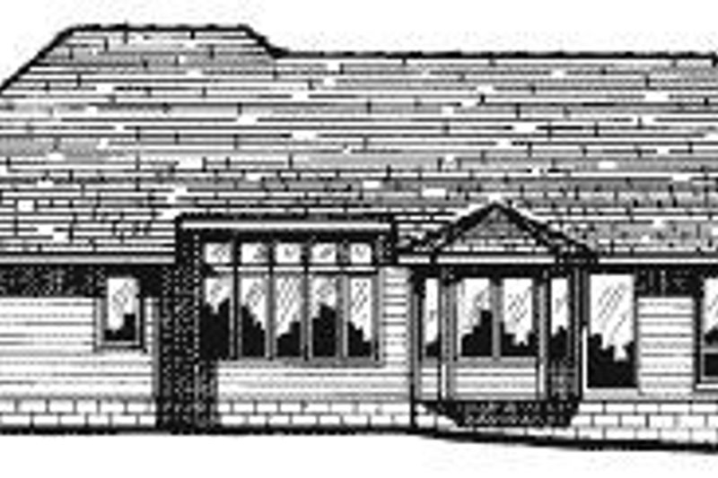 Traditional Exterior - Rear Elevation Plan #20-735 - Houseplans.com