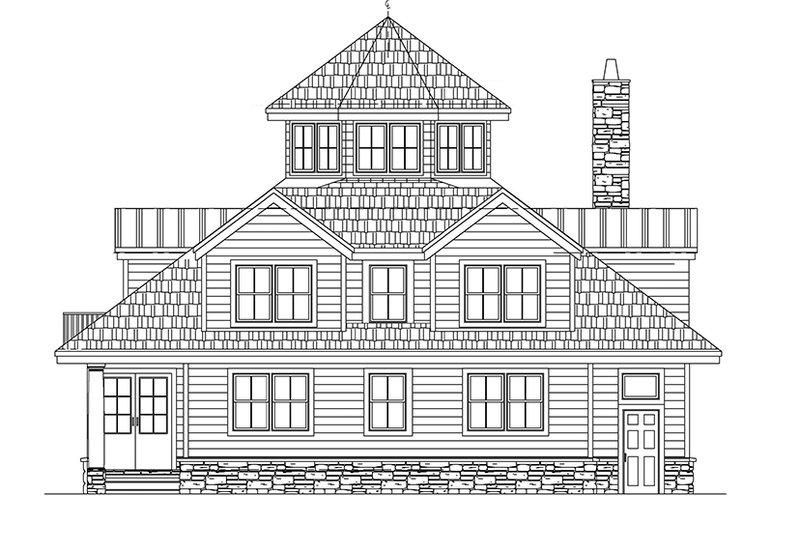 Contemporary Exterior - Rear Elevation Plan #1061-7 - Houseplans.com