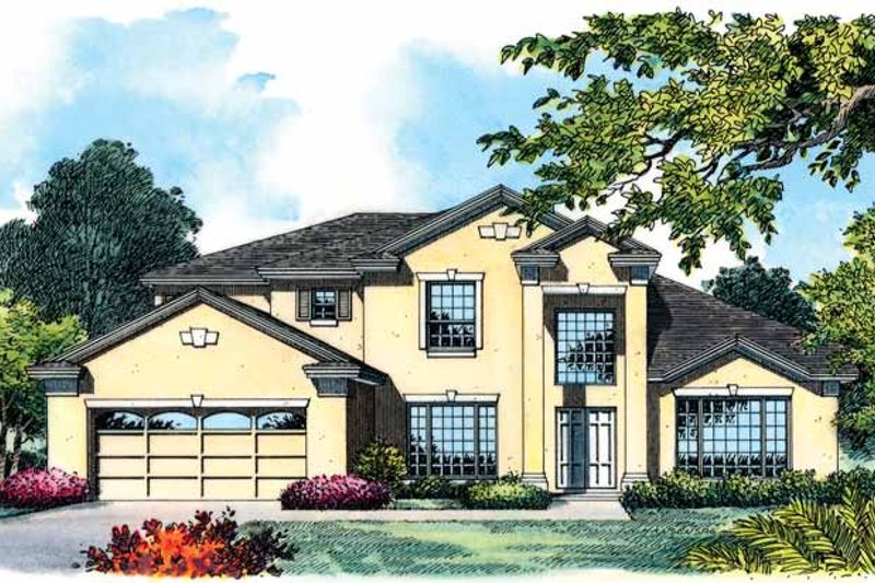 Architectural House Design - European Exterior - Front Elevation Plan #1015-6