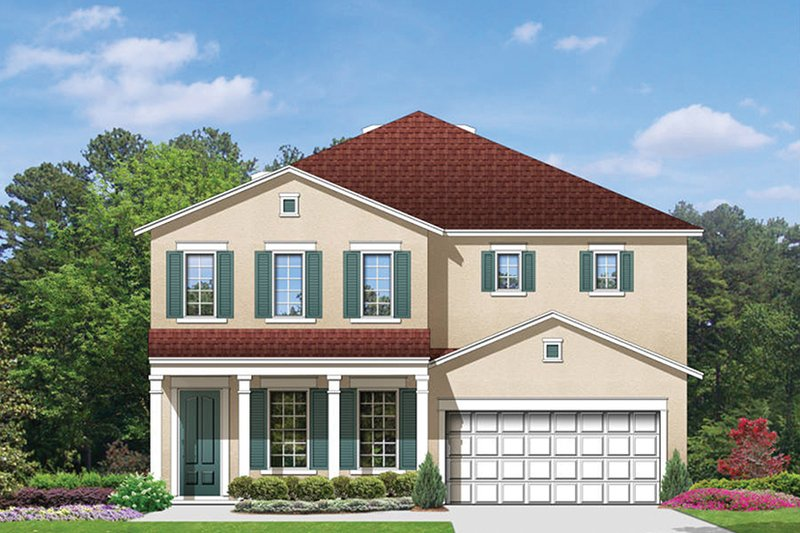Colonial Exterior - Front Elevation Plan #1058-68 - Houseplans.com
