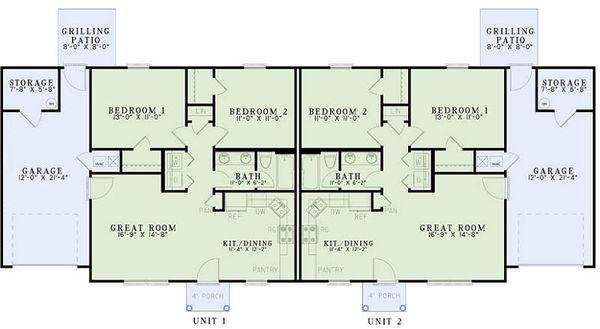 Ranch Floor Plan - Main Floor Plan Plan #17-2449