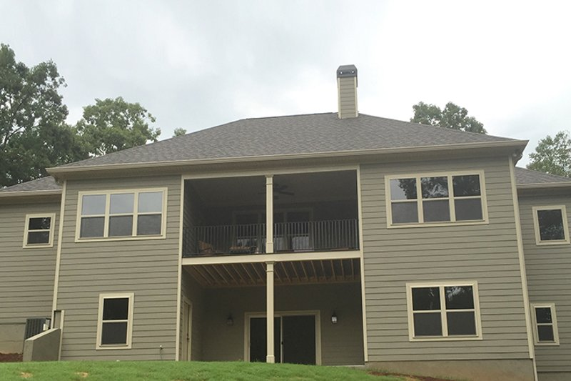 Craftsman Exterior - Rear Elevation Plan #437-75 - Houseplans.com