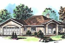House Blueprint - Ranch Exterior - Front Elevation Plan #18-129