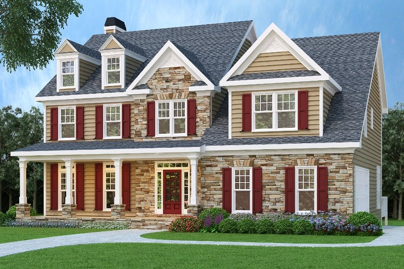 Dream House Plan - Traditional Exterior - Front Elevation Plan #419-152